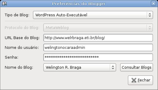 Gnome-Blog Preferências